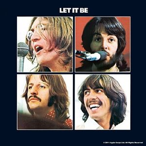 Beatles Let It Be LP cover cork backed drinks coaster  (hb)